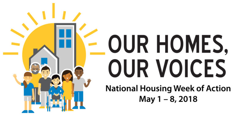 Graphic that says Our Homes, Our Voices